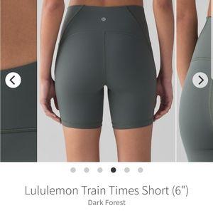 "NWOT Lululemon Train Times 6"" Short"